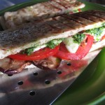 Grilled Eggplant and Pesto Panini