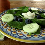 Spinach & Blueberry Salad With Yogurt & Herb Dressing