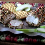Smoked Almond & Peppercorn Goat Cheese Log