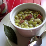 Fresh Lima Beans with Smoked Bacon