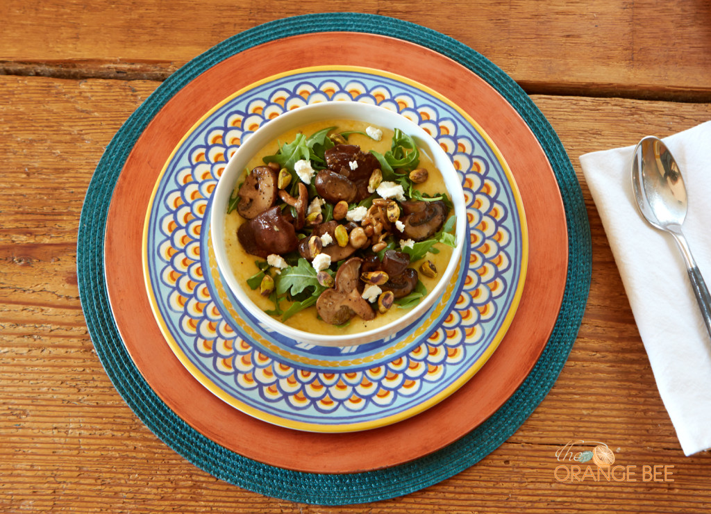 Creamy Polenta With Wild Mushrooms - The Orange Bee