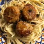 Scallops in Lemon Caper Sauce ~ Homemade Gourmet